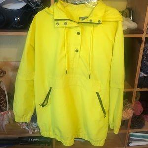 Yellow raincoat pullover